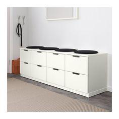 NORDLI Commode à 8 tiroirs - blanc - IKEA