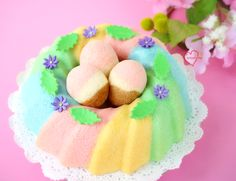 Loving Creations for You: Neopolitan 'Easter egg' Chiffon Cake Pops in Rainbow Chiffon Bundt 'Nest' Chiffon Cake, Egg Cake, Cake Pop Sticks, Baking Classes, Zucchini Cake, Cake Trends, Food Trends, Salty Cake, Easter Cupcakes