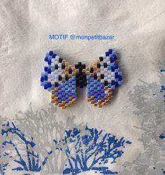 broche faite avec le motif de mon petit bazar. www.monpetitbazar.fr