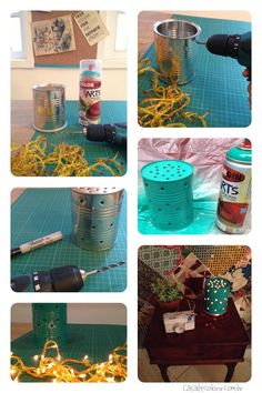 DIY Cozy Tin Can Lamp