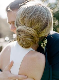 Elegant updo for the bride. Let Vênsette's world-class hair and makeup artists craft custom beauty looks for your special wedding day: http://vensette.com/bridal_inquiries
