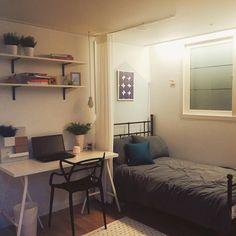 Fabulous DIY Small Bedroom Decoration Ideas On A Budget - Small room design Room Design Bedroom, Room Ideas Bedroom, Small Room Bedroom, Small Rooms, Small Spaces, Dorm Room, Cozy Bedroom, Bedroom Designs, Modern Bedroom