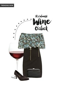 Exclusive Look by Wine O Clock, Oclock, Trending Now, Crepe Dress, Dresses Online, Vip, Floral Prints, Scrap, Android