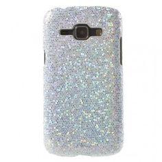 Galaxy J1 hopea glitter suojakuori.
