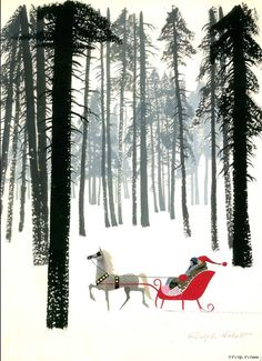 Get ready immerse yourself in the whimsical and enchanting world of Disney animator Ralph Hulett Christmas Card Illustrations from 1949-74