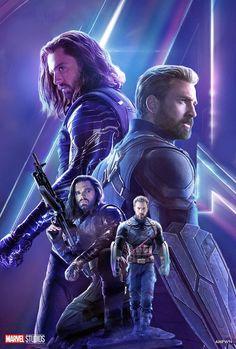 Avengers: Infinity War: Steve Rogers and Bucky Barnes - Marvel Comics Marvel Dc Comics, Heros Comics, Marvel Heroes, Marvel Actors, Marvel Characters, Marvel Movies, Bucky Barnes, The Avengers, Marvel Infinity