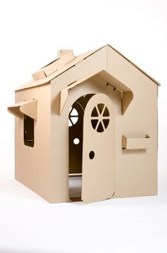 Children's Cardboard Playhouse Children's Cardboard Playhouse The post Children's Cardboard Playhouse appeared first on Dome Decoration. Cardboard Box Houses, Cardboard Box Crafts, Cardboard Design, Cardboard Castle, Cardboard Playhouse, Diy Playhouse, Cardboard Toys, Cubby Houses, Cardboard Furniture