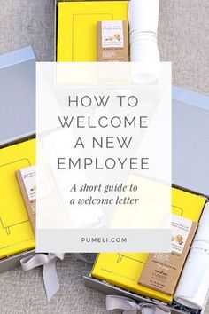 How to welcome a new employee. Looking for a way to set a positive tone when you welcome new employees? One of the easiest things you can do is add a well-crafted welcome message for new employees to your onboarding checklist. Corporate Gifts | #corporategifts #employeegifts #welcomeletter #hiring #manager