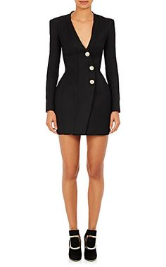 We Adore: The Snap-Front Hourglass Dress from Balmain at Barneys New York