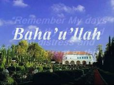 This video is made on the remembrance of the ascension night of Baha'u'llah, the manifestation of Go for this age. On May 29, 1892, at about...