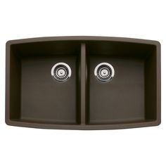 Blanco 440069 Performa Silgranit II Double Bowl Sink, Anthracite - Blanco Performa Equal Double Bowl - Amazon.com  $399