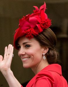 Duchess Kate: It's Royal Repeats & Wedding Earrings for (a Very Rainy) Garter Day - June 13, 2016