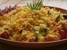 Hankka: Kuszkusz-saláta - Fő az egészség! Fried Rice, Quinoa, Macaroni And Cheese, Grains, Vegan, Ethnic Recipes, Food, Bulgur, Mac And Cheese