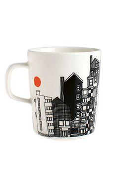 "Siirtolapuutarha mug by marimekko. LOVE this line of mix and match pieces, like a real ""community garden"""