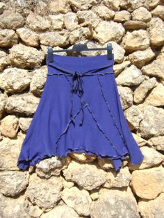 Asymetrical Upcycled Skirt - Royal Blue by NuLifeClothing