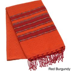 Authentic Fouta Natural Cotton Tribal Striped Bath and Beach Towel (Tunisia) By Berber Decor   Overstock.com