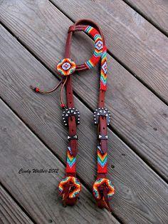 Custom Hand Beaded Horse Tack and Dog Collars by Cindy Walker - Blue Ridge Artist Cindy Walker