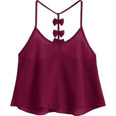 Bowknot Embellished Cami Top ($14) ❤ liked on Polyvore featuring tops, purple camisole, embellished cami, purple camisole top, purple tank and camisole tank