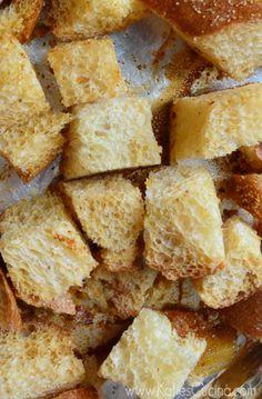 Garlic Bacon Croutons