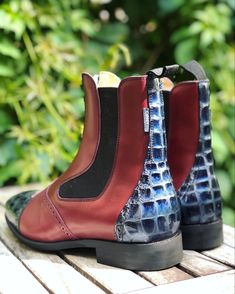 Oxblood, Short Boots, Royal Blue, Booty, Model, Shoes, Collection, Fashion, Low Boots