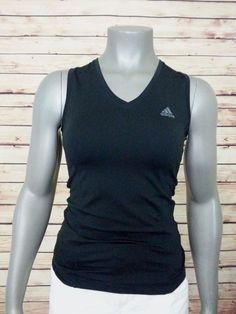 adidas sleeveless athletic top women's size S #adidas #ShirtsTops