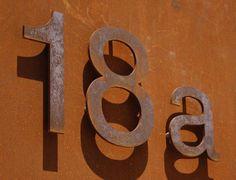 Villa Metal - Números em Aço Corten