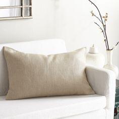 European Flax Linen Pillow Cover – Natural Rectangle
