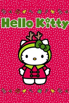 Hello Kitty, haha getting ready for Christmas