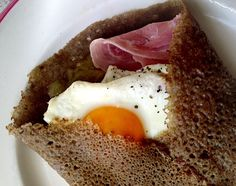 Galette ~Galette is another word for savoury pancake made with buckwheat flour and served with savoury garnishing.