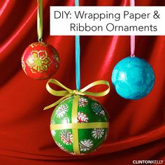 Got a lot of wrapping paper and a little booze? Take a break from all that wrapping and DIY these festive little ornaments!