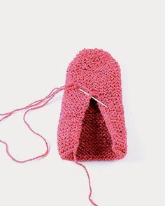 Chaussons tricot tutoriel - Marie Claire