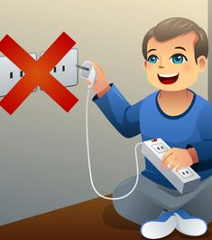 Teaching your children about electricity and helping them learn Electrical safety rules is very important.Here is few Electrical safety for kids. Just read on Safety Rules At Home, Home Safety Tips, Safety Clipart, Teaching Safety, Teaching Tips, Safety Pictures, Safety Checklist, Safety Posters, Electrical Safety