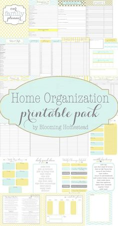 Free Home Organizational Printables by Blooming Homestead