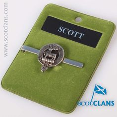 Scott Clan Crest Tie Slide. Free worldwide shipping available