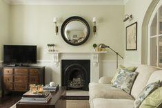 Fulham Garden Flat - Traditional - Bedroom - london - by Lisette Voute Designs Small Living Room Design, Living Room Designs, Home Design, Design Ideas, London Living Room, Victorian Living Room, Living Room Color Schemes, Colour Schemes, Color Palettes