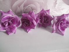 """Rose Button Holes Approx. 4"""" Diam x 4 In Deep Lilac &  Ice  Fast Dispatch"""