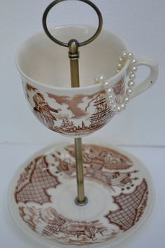 Teacup Stand Alfred Meakin  Sailor's Farewell by SimplyChina, $18.00
