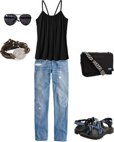 summer essentials, created by timbeckysager on Polyvore