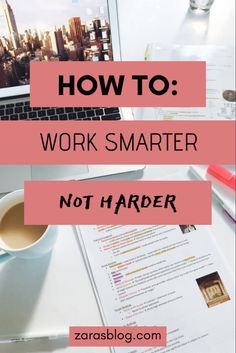 My top tips on how to study at home for college students and be more productive! Tips from a straight-A student! #collegehacks #studytips