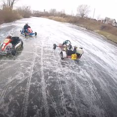 Ice karting in Russia is basically real life Mario Kart Video Show, Wow Video, Go Kart Racing, Diy Go Kart, Freestyle Skiing, Atv Riding, Drift Trike, Street Racing Cars, Karting