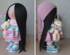Arte bambola, bambola da collezione bambola, bambola fatta a mano, in fatti a mano, casa di bambola, bambola del regalo, Decor bambola, bambola
