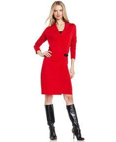 Fever Dress, Long-Sleeve Wrap - Womens Dresses - Macy's