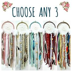 Choose Any 3 DIY Dream Catcher Kits.  Do it Yourself Craft Kit Gift for Boys or Girls by The House P