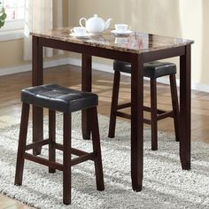 Found it at Wayfair - 3 Piece Counter Height Pub Table Set