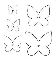 Resultado de imagen para butterfly felt hair clips template
