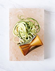 Raw Zucchini Pasta! So delicious, and so simple and quick to make. Recipe –Jacqueline Evans. Styling –Claire Larritt-Evans, styling assistant –Alison Turnbull. Photo –Eve Wilson for thedesignfiles.net