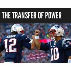 This is called teamwork... Brady is first, a team player and leader; second, a quarterback.