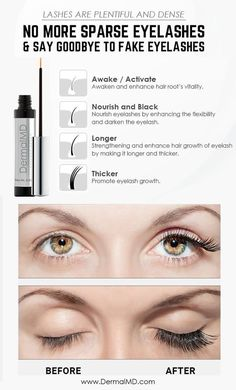 Now say goodbye to fake lashes & try our Dermalmd Lash eyelash booster serum. Natural Eyelashes, Fake Lashes, How To Grow Eyelashes, Eyelash Growth Serum, Rosacea, Skin Treatments, Fragrance, False Lashes