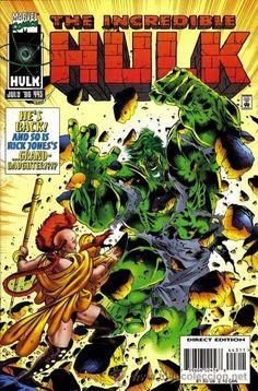 Incredible Hulk # 443 by Angel Medina & Robin Riggs Hulk Comic, Hulk Marvel, Marvel Comic Books, Comic Books Art, Comic Art, Marvel Comics, Avengers, Marvel Animation, Hulk Smash