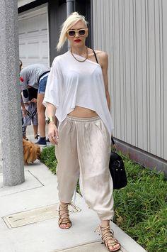 Gwen Stefani in harem pants.
